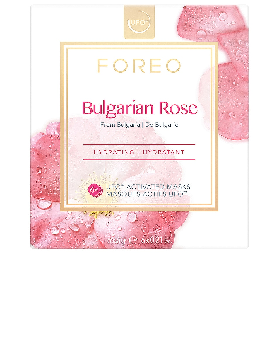 Image 1 of FOREO UFO Mask 6 Pack in Bulgarian Rose
