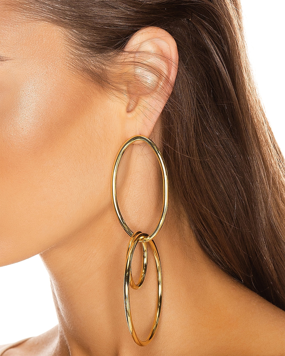 Image 2 of Cult Gaia Tria Earring in Gold