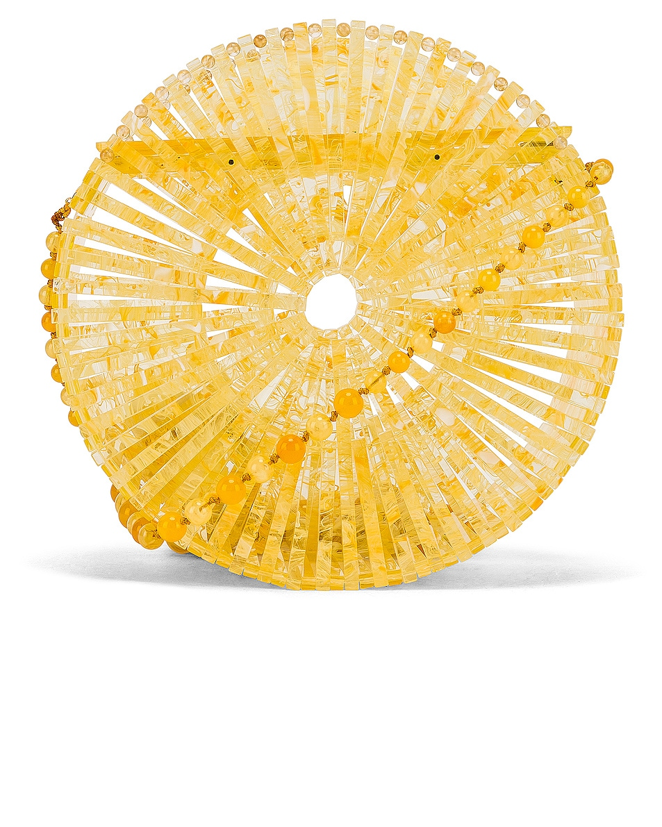 Image 1 of Cult Gaia Acrylic Luna Crossbody Bag in Yellow Quartz