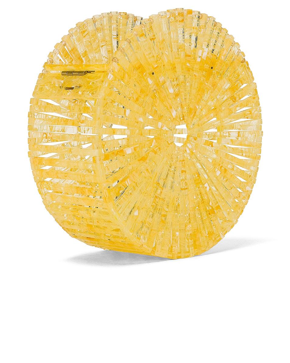 Image 3 of Cult Gaia Acrylic Luna Crossbody Bag in Yellow Quartz