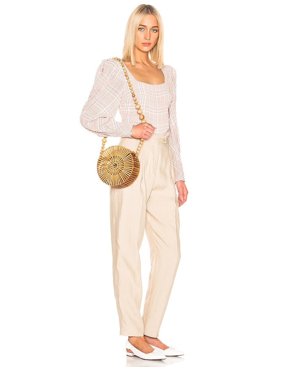 Image 2 of Cult Gaia Bamboo Luna Crossbody Bag in Natural Tan