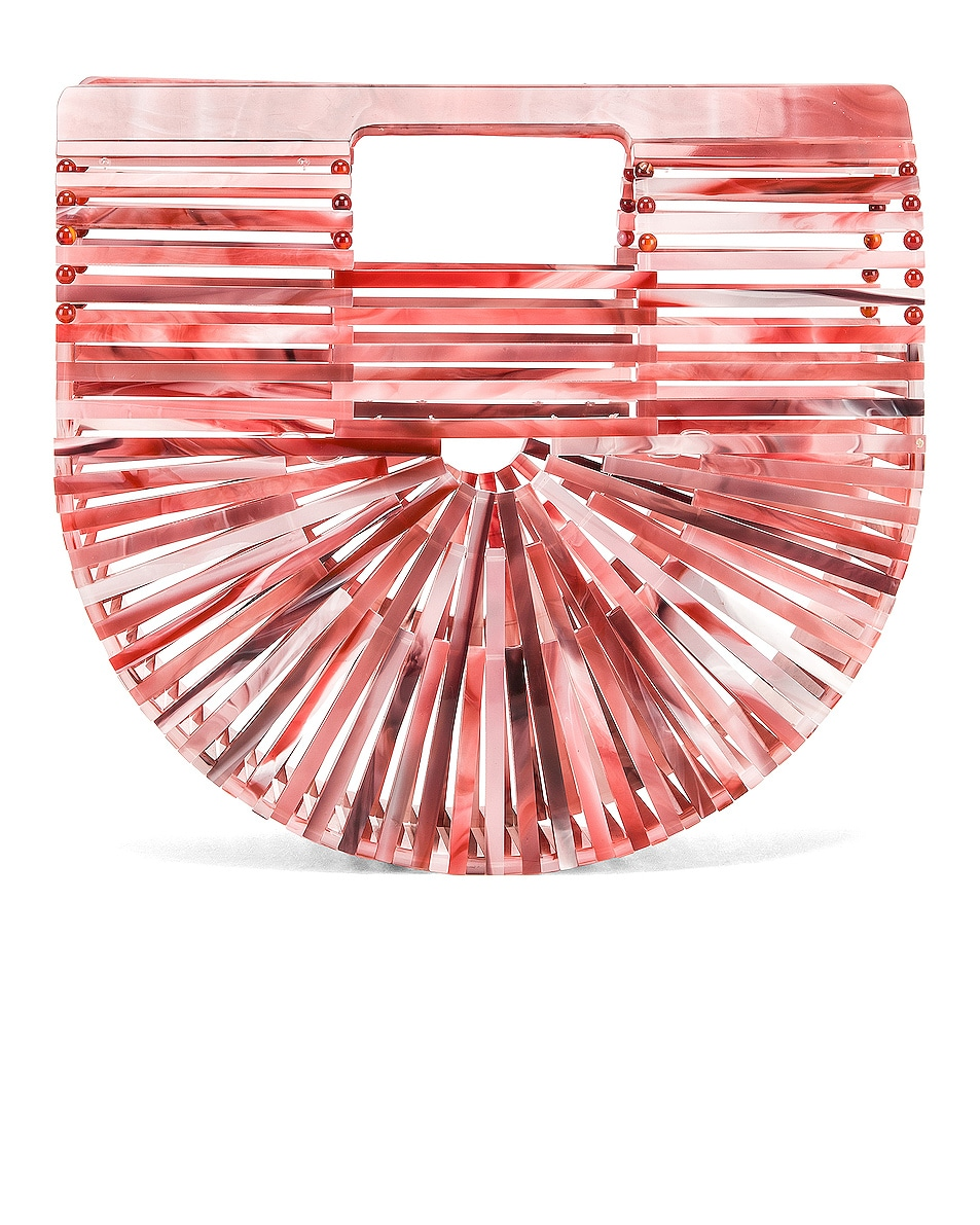 Image 1 of Cult Gaia Mini Acrylic Ark Bag in Melon
