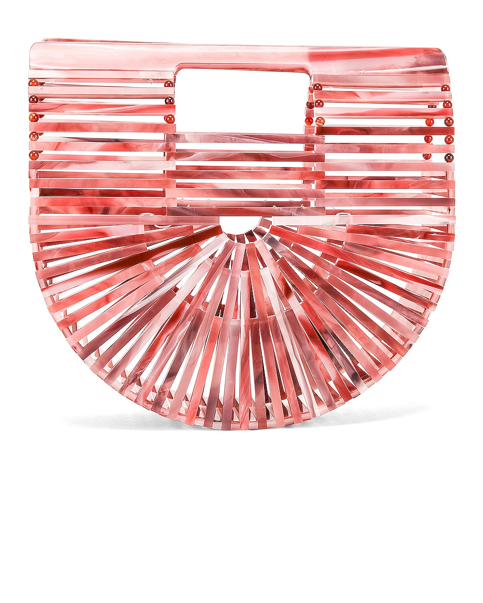 Image 3 of Cult Gaia Mini Acrylic Ark Bag in Melon