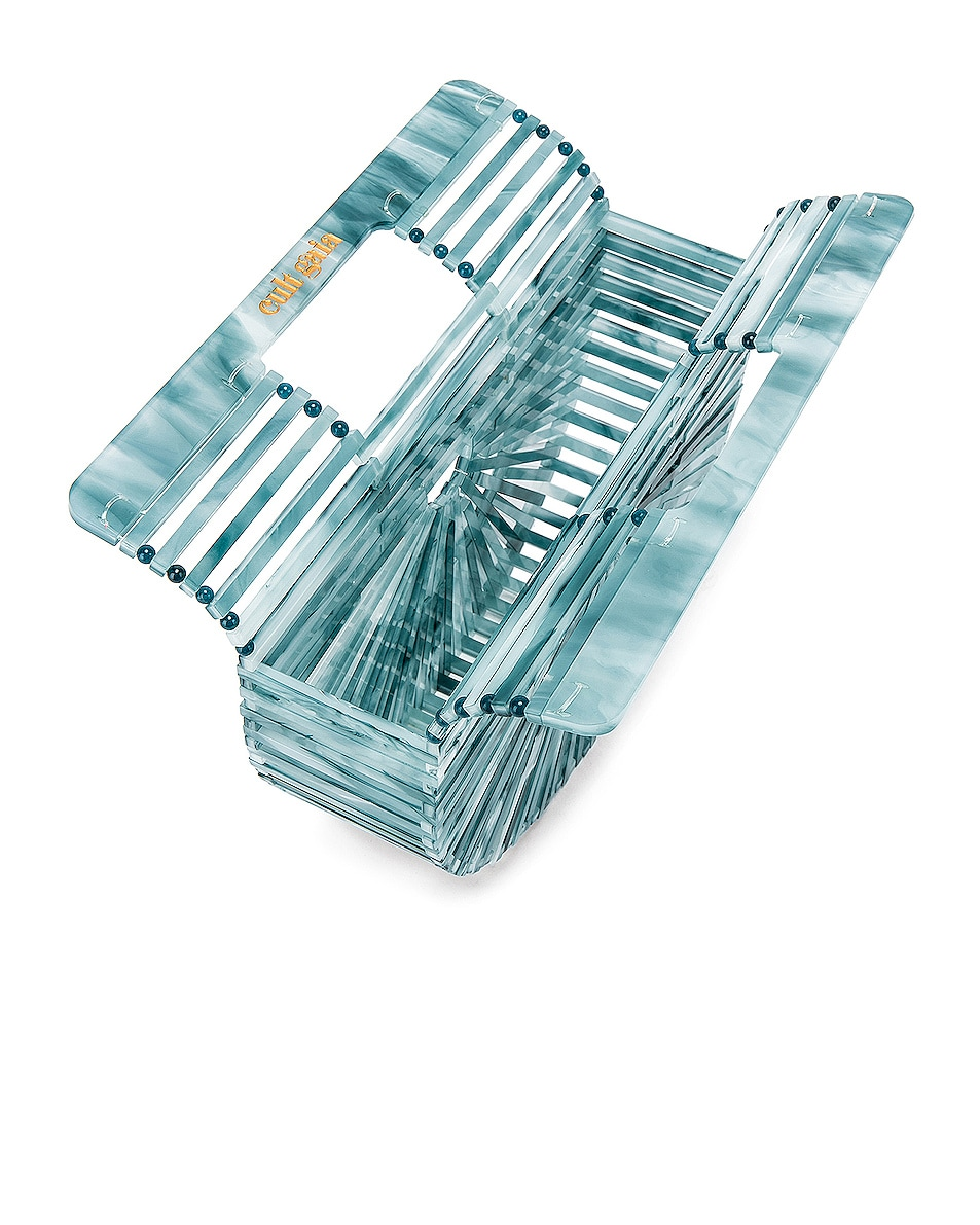 Image 5 of Cult Gaia Mini Acrylic Ark Bag in Azure