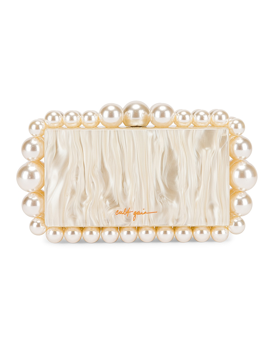 Image 1 of Cult Gaia Eos Box Clutch in Pearl