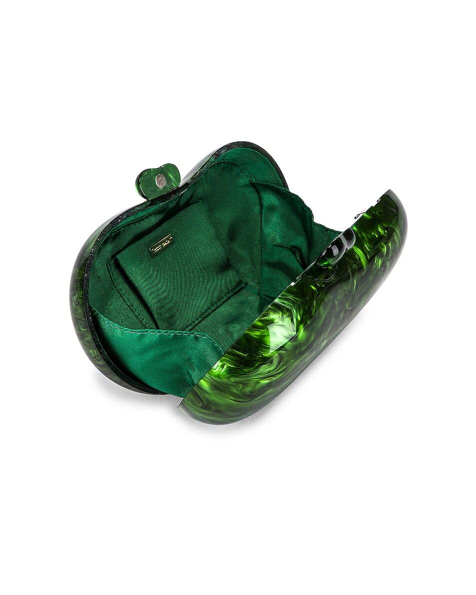 Image 4 of Cult Gaia Tallulah Bean Shoulder Bag in Malachite