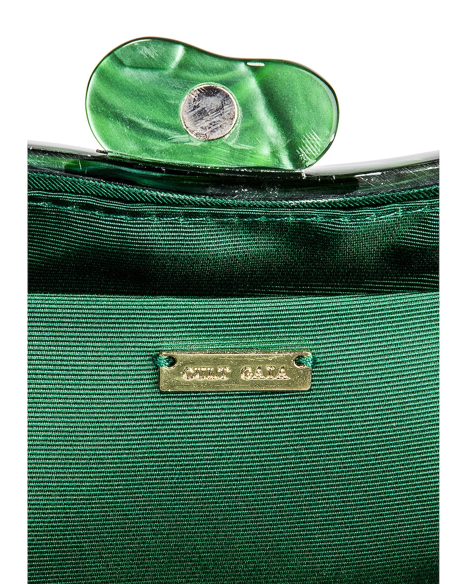 Image 6 of Cult Gaia Tallulah Bean Shoulder Bag in Malachite
