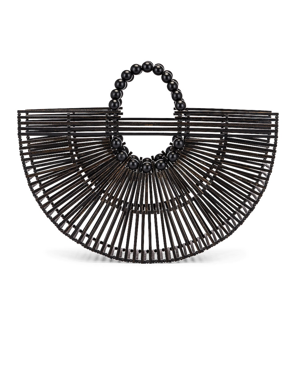 Image 1 of Cult Gaia Bamboo Fan Ark Bag in Black