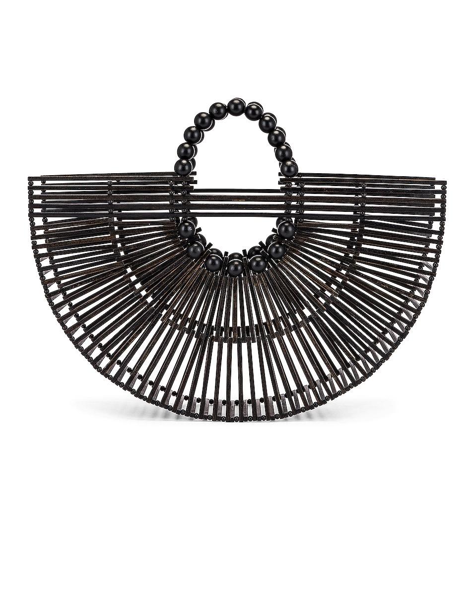 Image 1 of Cult Gaia Bamboo Fan Ark Bag in Black