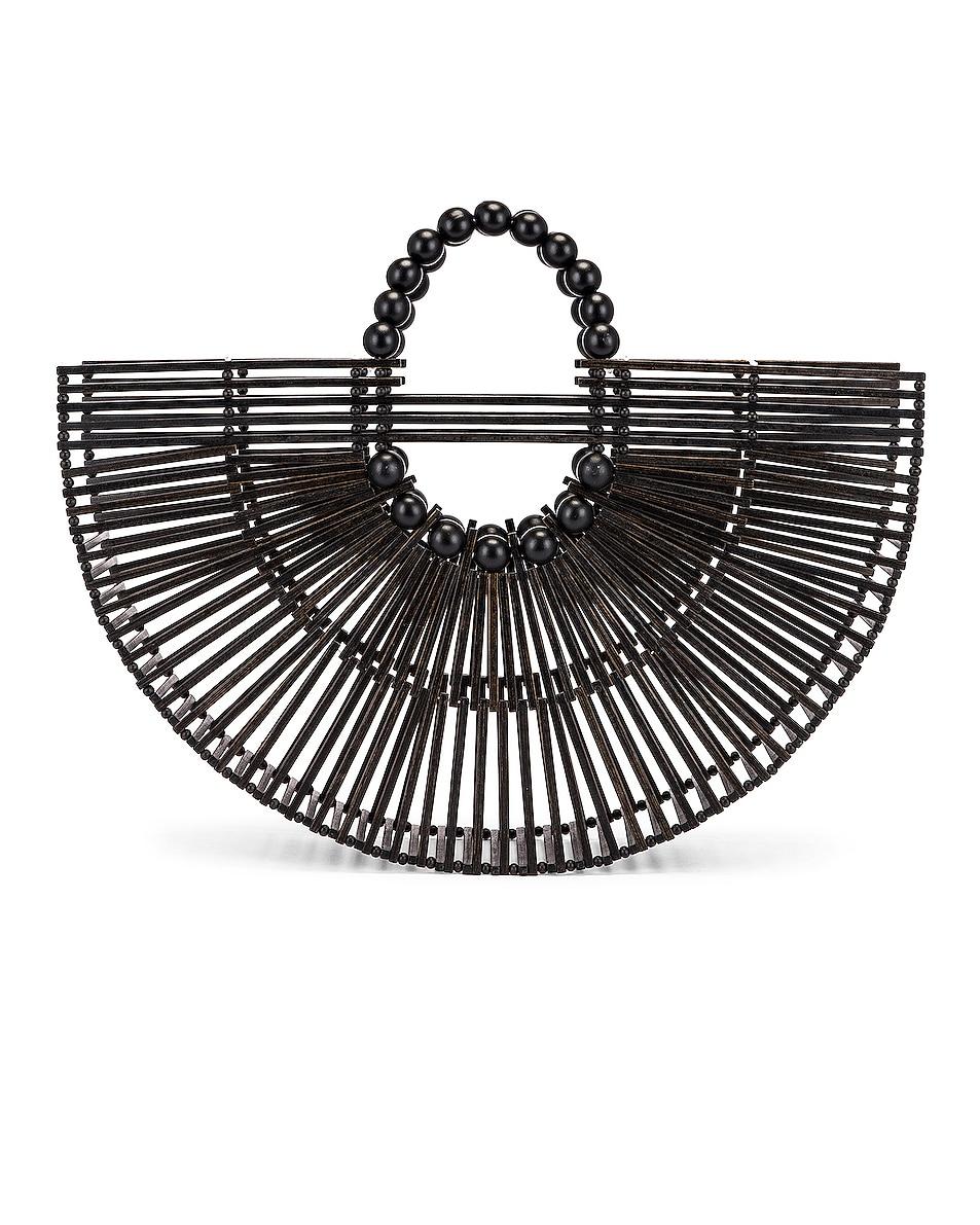Image 3 of Cult Gaia Bamboo Fan Ark Bag in Black