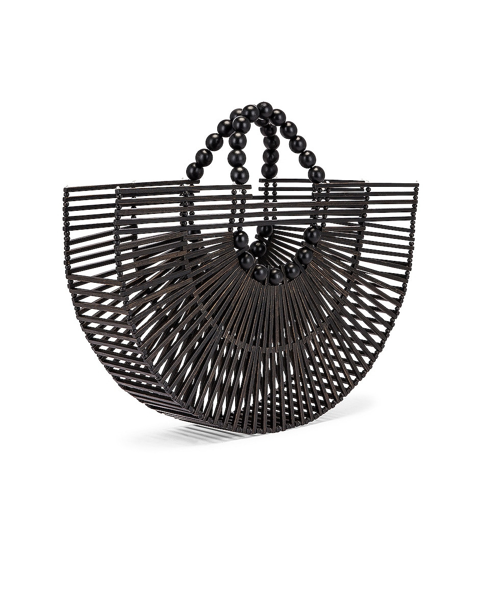 Image 4 of Cult Gaia Bamboo Fan Ark Bag in Black