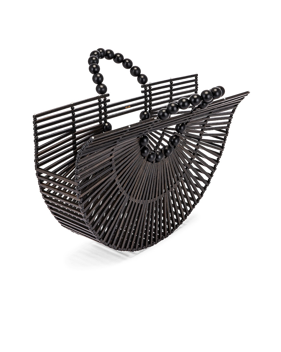 Image 5 of Cult Gaia Bamboo Fan Ark Bag in Black