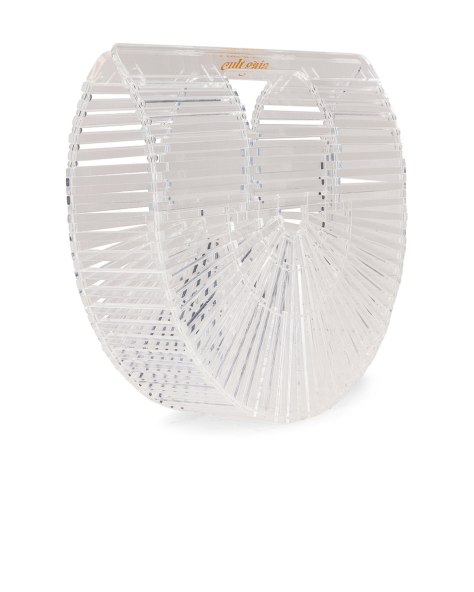 Image 4 of Cult Gaia Mini Acrylic Ark Bag in Clear