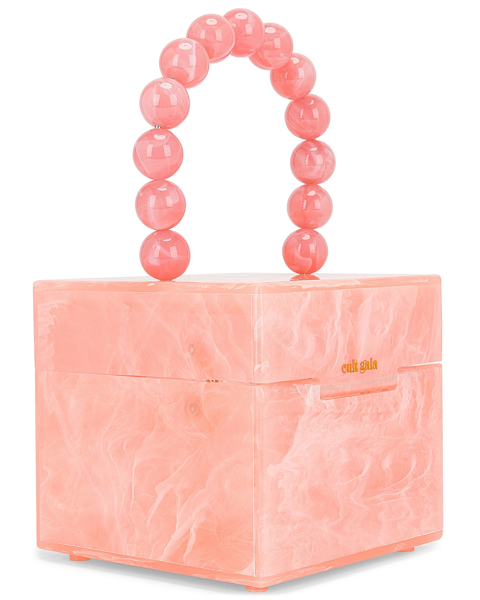 Image 4 of Cult Gaia Eos Box Bag in Pink