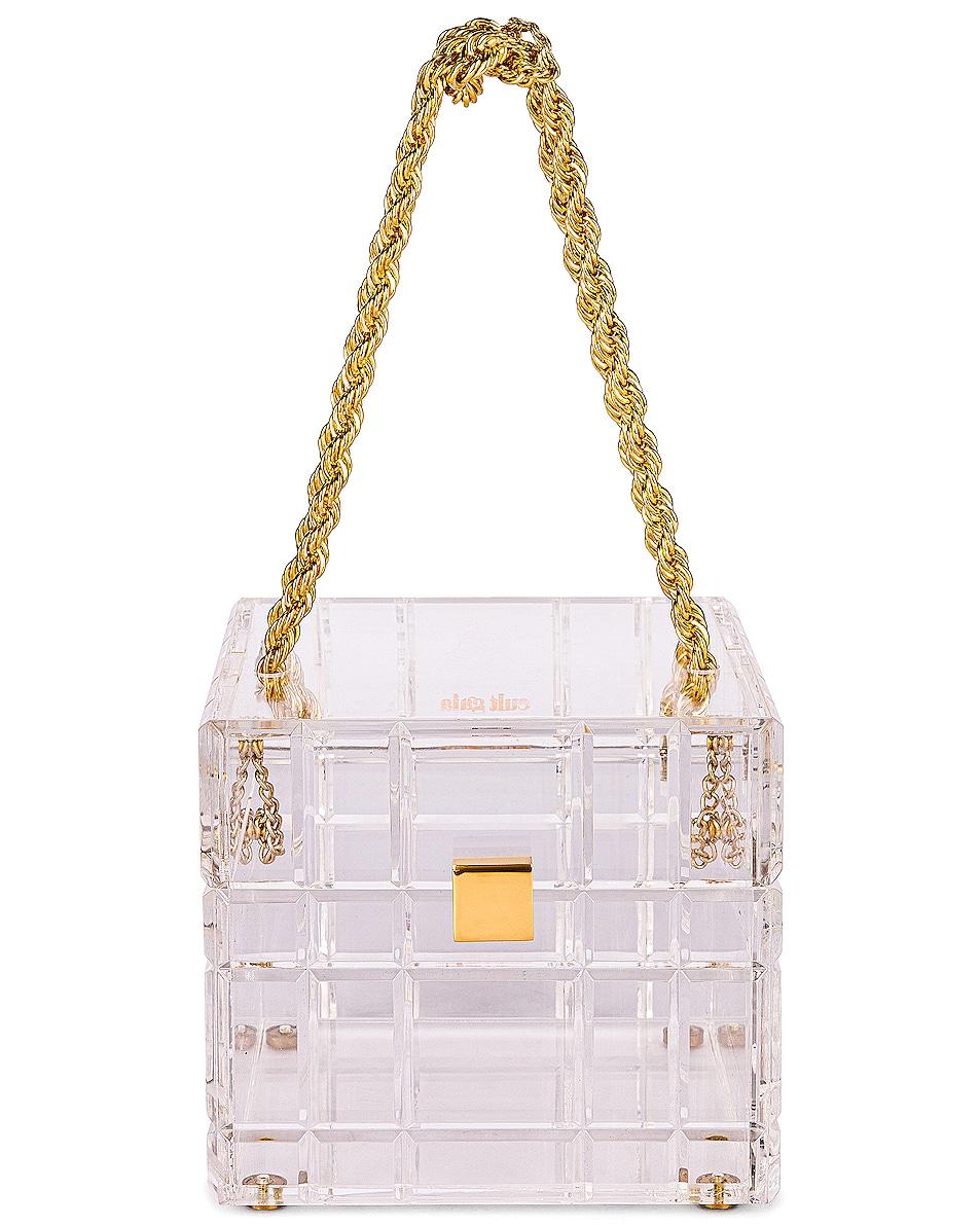 Image 1 of Cult Gaia Phaedra Top Handle Bag in Clear