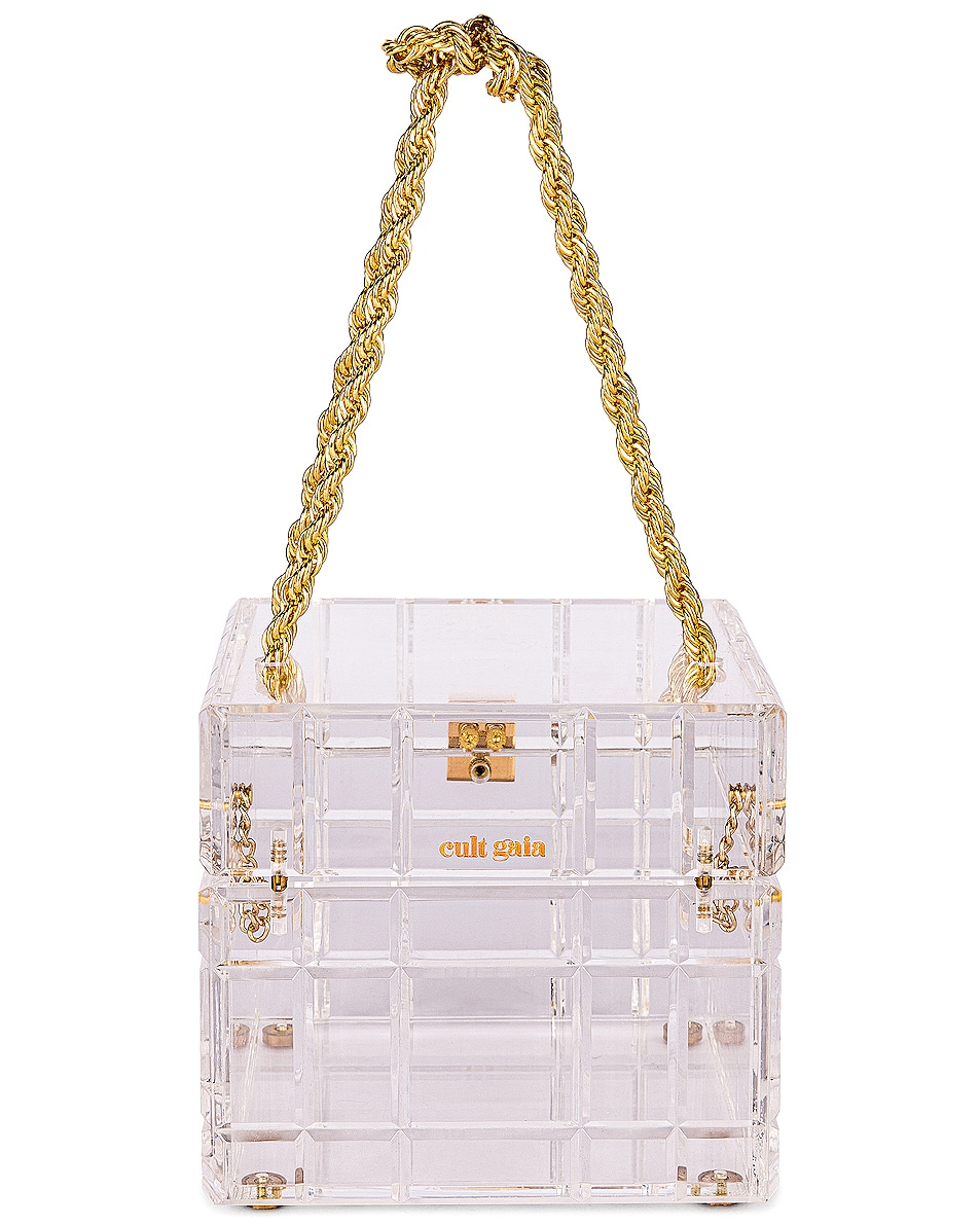 Image 3 of Cult Gaia Phaedra Top Handle Bag in Clear