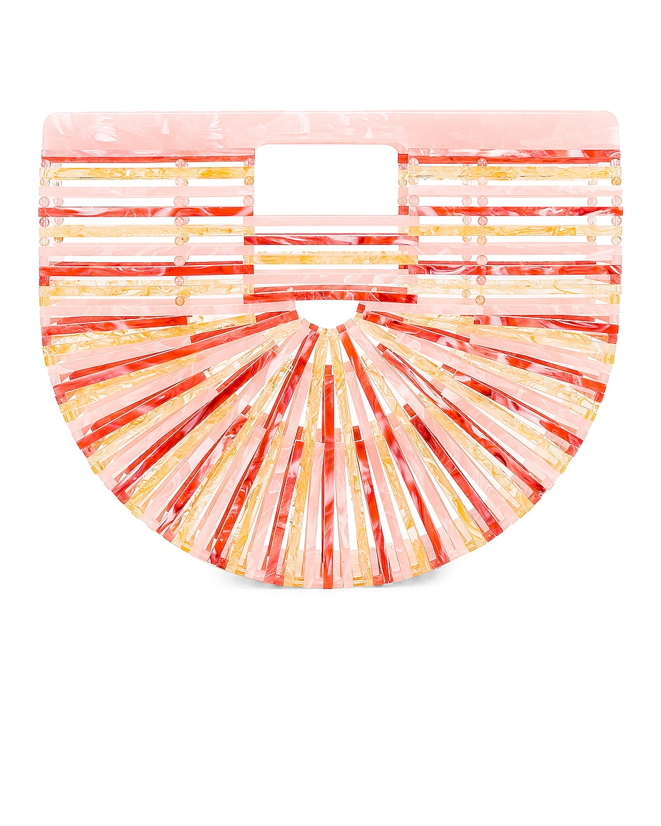 Image 1 of Cult Gaia Small Acrylic Ark Bag in Citrus Multi