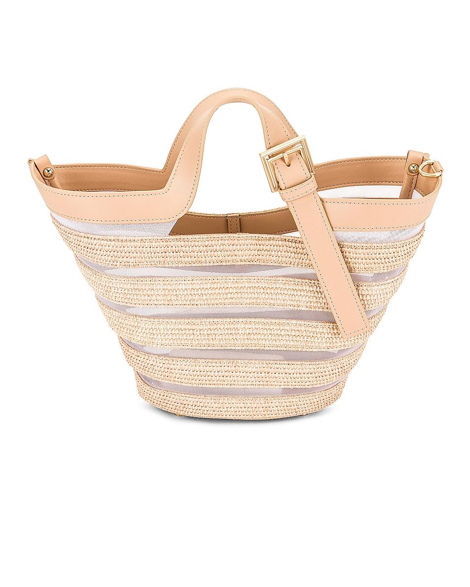 Image 1 of Cult Gaia Laszlo Mini Crossbody Bag in Natural Tan