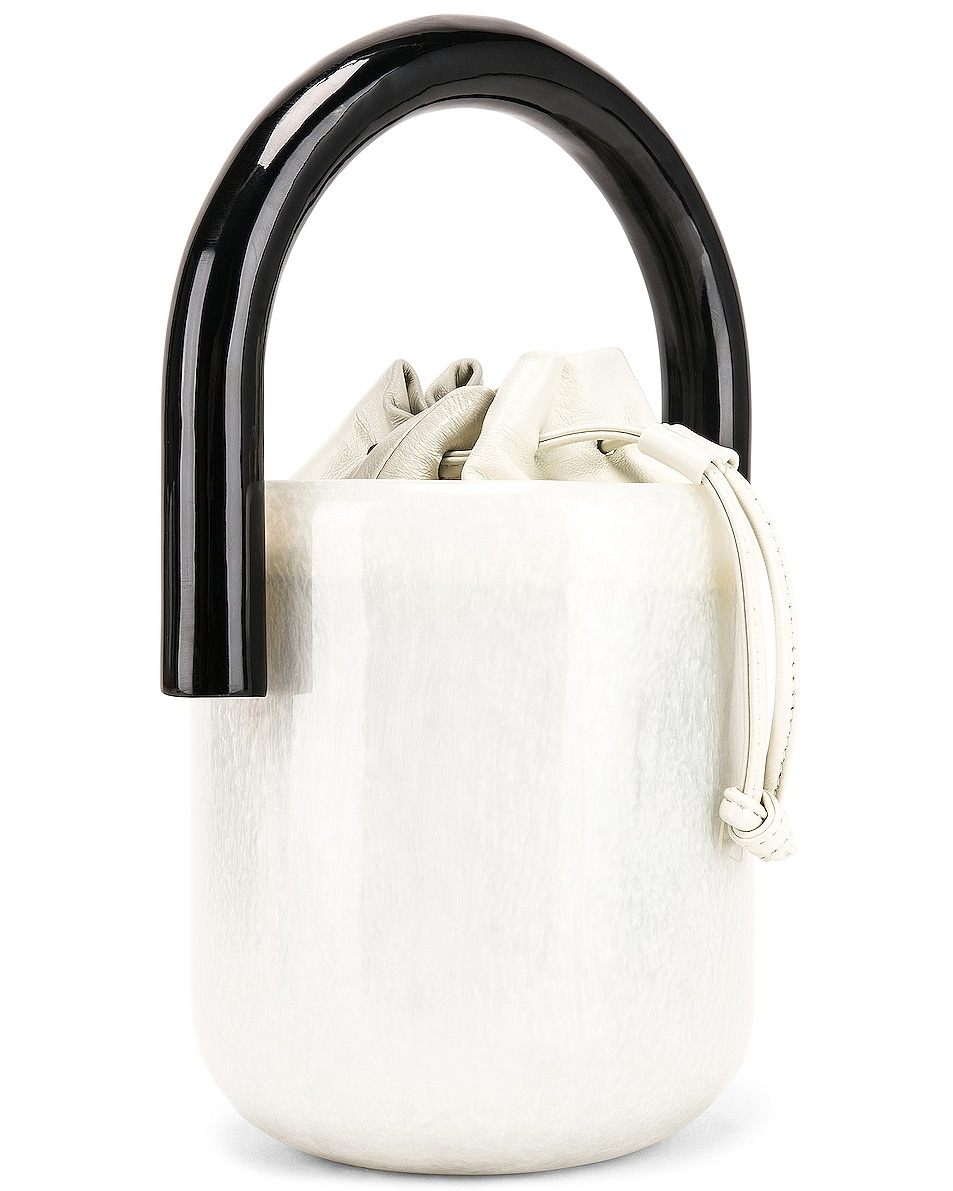 Image 4 of Cult Gaia Oliva Bucket Bag in Pearl