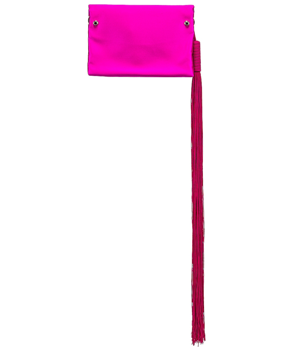 Image 2 of GALVAN Small Rectangle Tassel Bag in Fuchsia