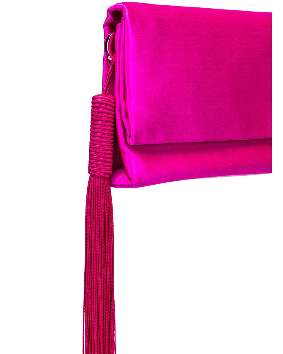 Image 8 of GALVAN Small Rectangle Tassel Bag in Fuchsia