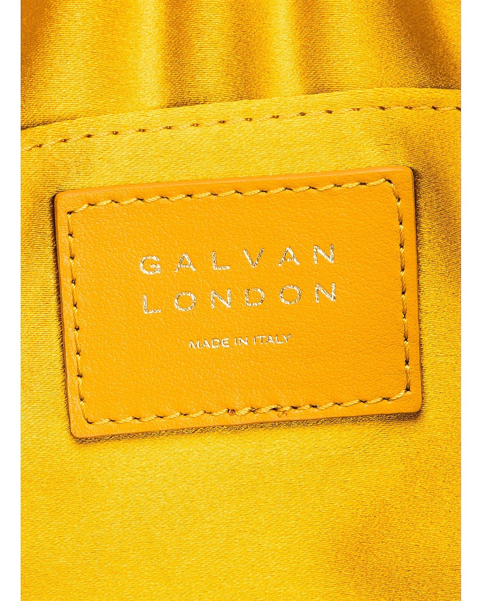 Image 6 of GALVAN Small Rectangle Tassel Bag in Mustard