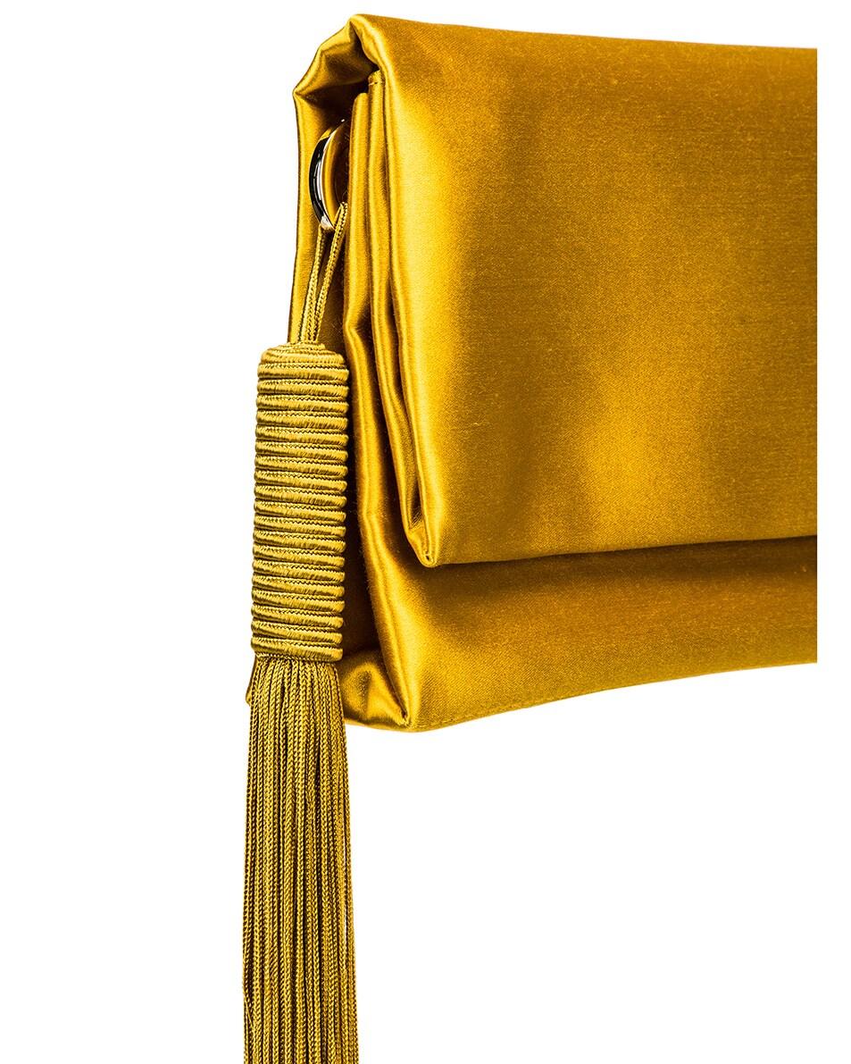 Image 8 of GALVAN Small Rectangle Tassel Bag in Mustard