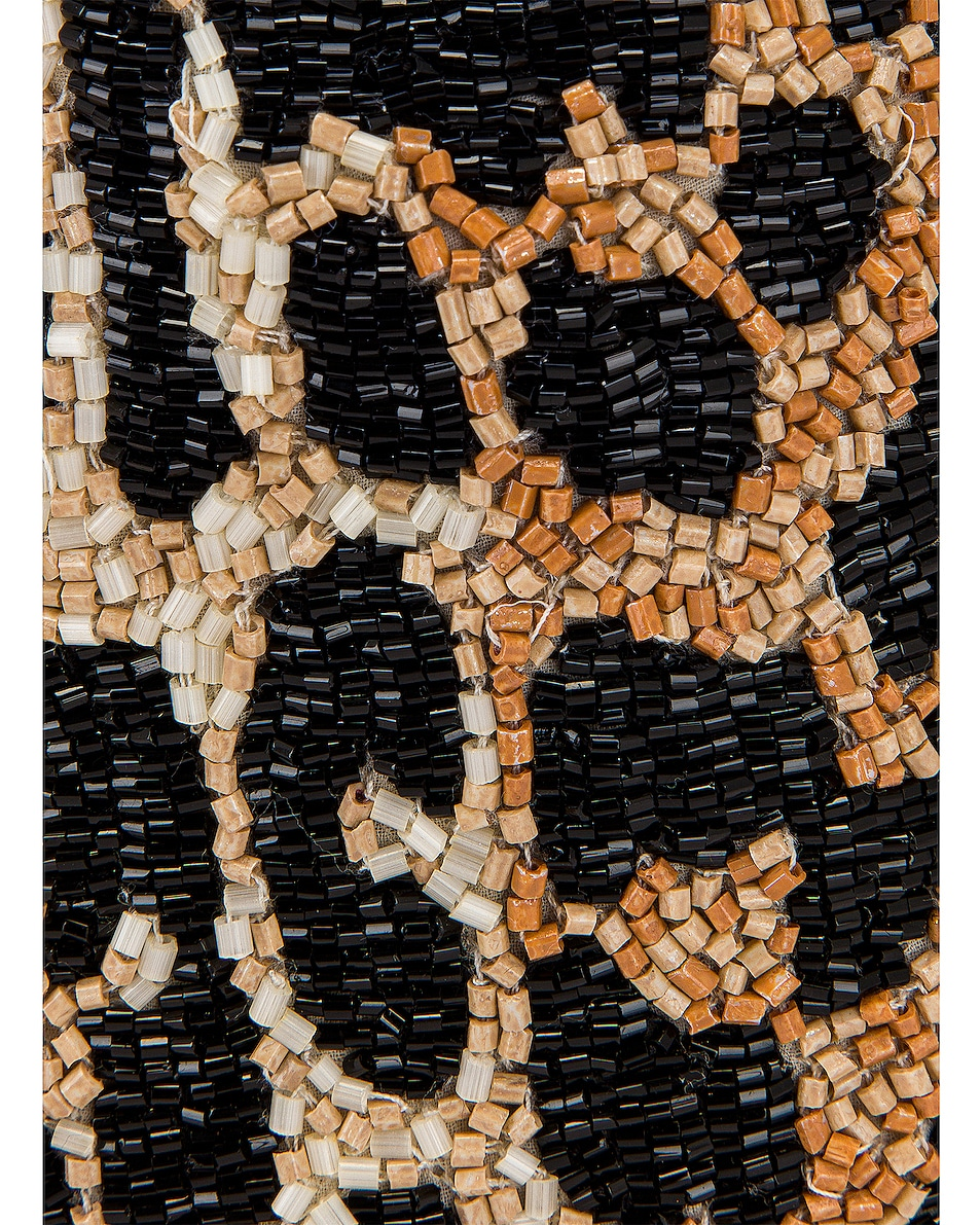 Image 8 of Ganni Hand Beaded Accessories Bag in Leopard