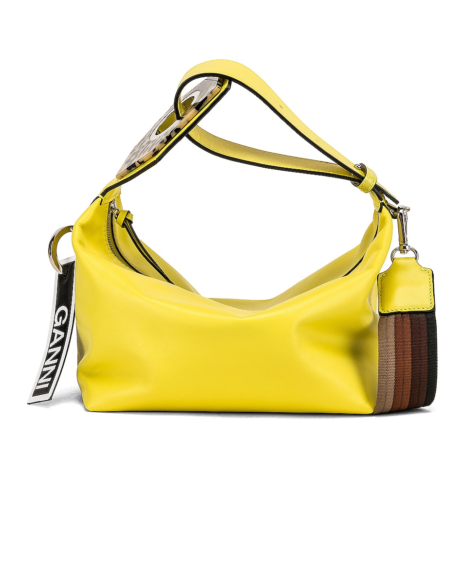 Image 1 of Ganni Leather Bag in Lemon Verbena
