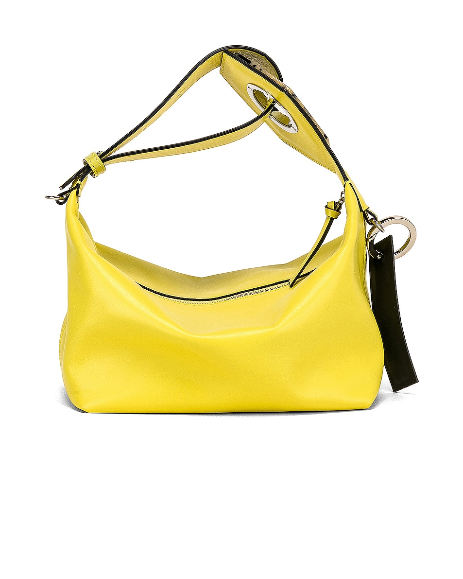 Image 3 of Ganni Leather Bag in Lemon Verbena