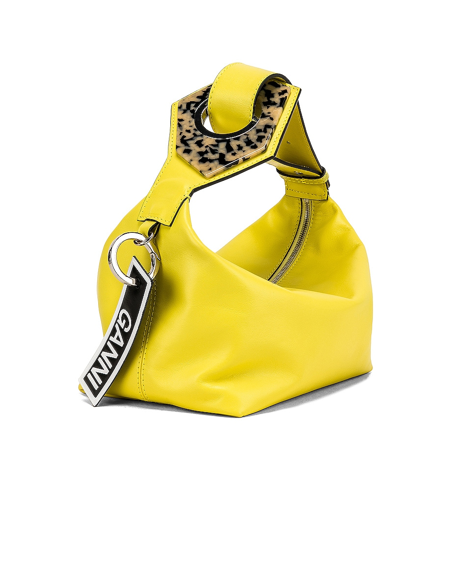 Image 4 of Ganni Leather Bag in Lemon Verbena