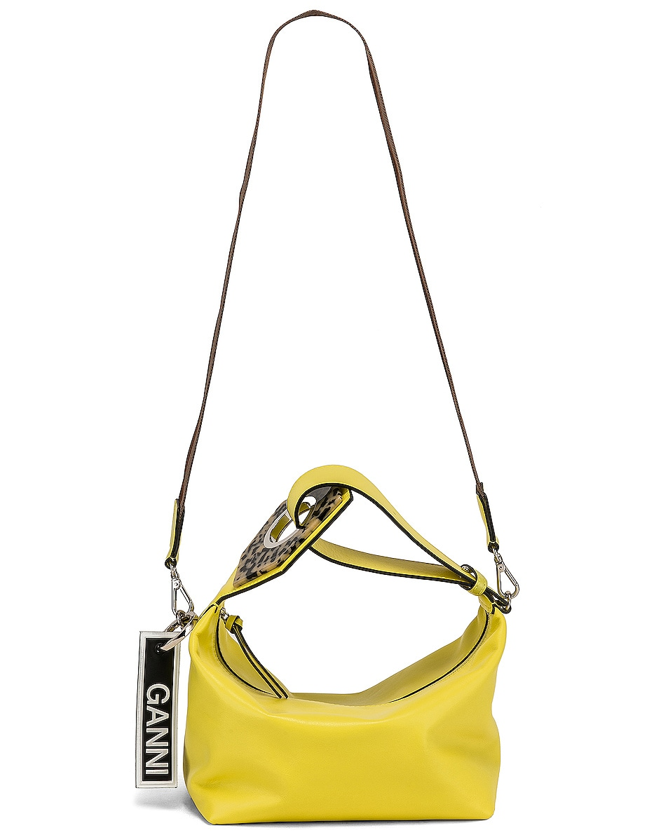 Image 6 of Ganni Leather Bag in Lemon Verbena