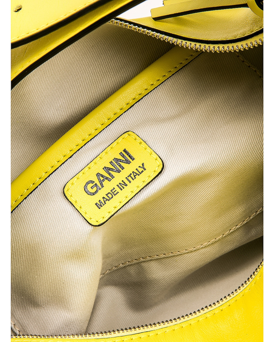 Image 7 of Ganni Leather Bag in Lemon Verbena