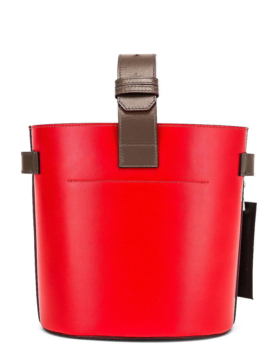 Image 3 of Ganni Leather Bag in Fiery Red