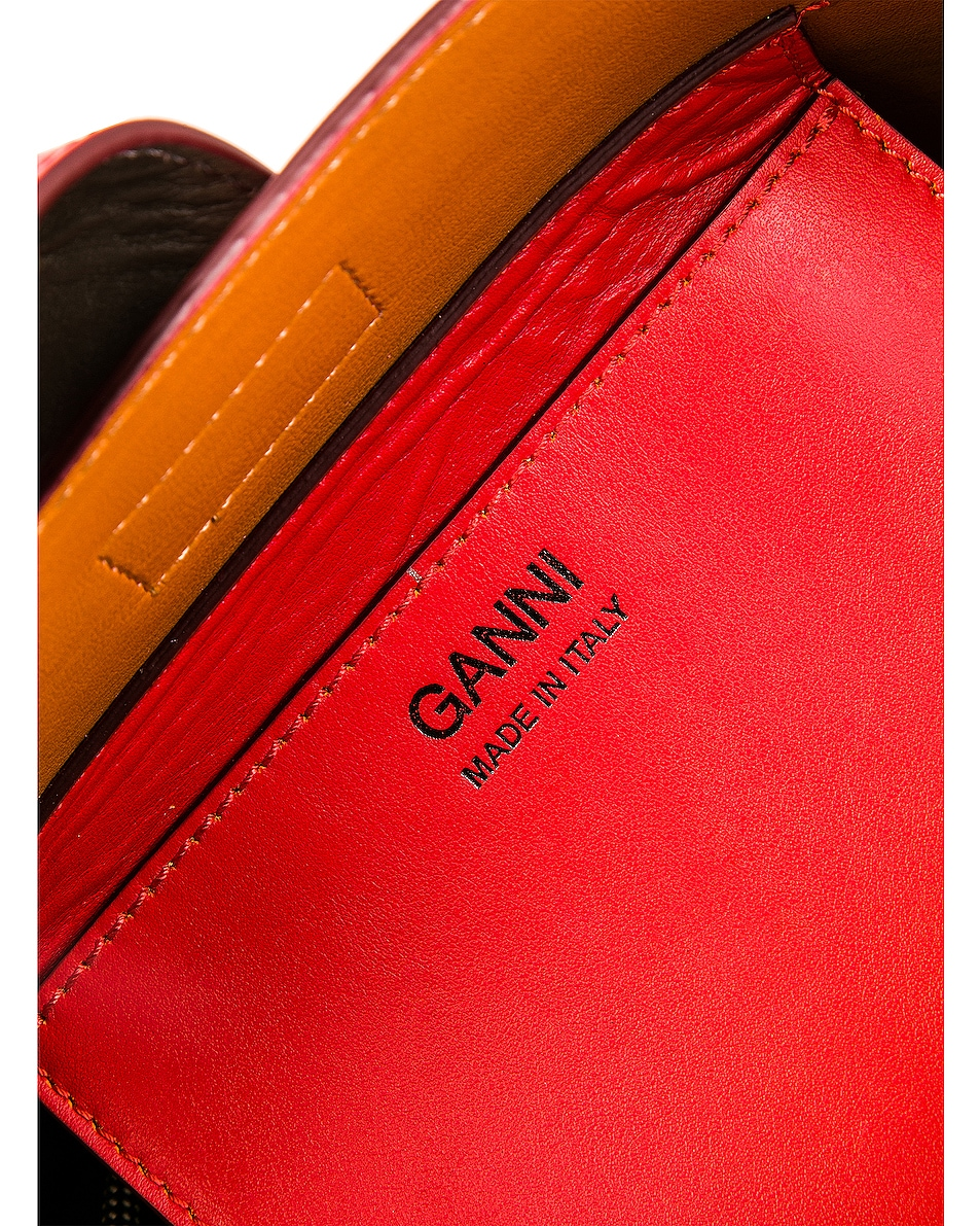 Image 7 of Ganni Leather Bag in Fiery Red