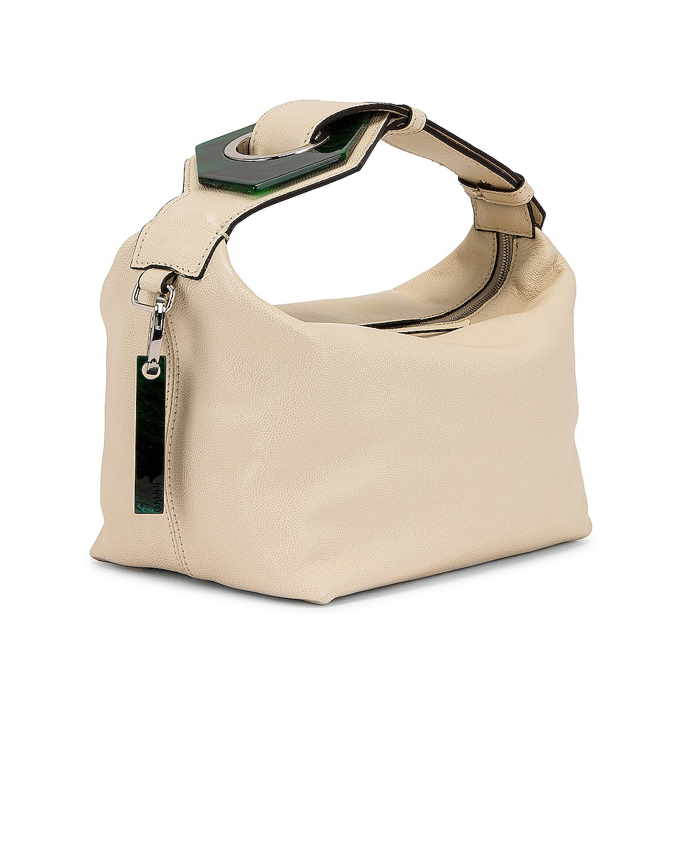 Image 4 of Ganni Leather Bag in Egret