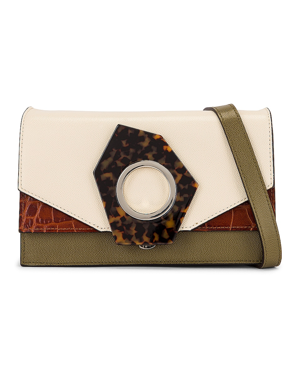 Image 1 of Ganni Leather Bag in Multicolour
