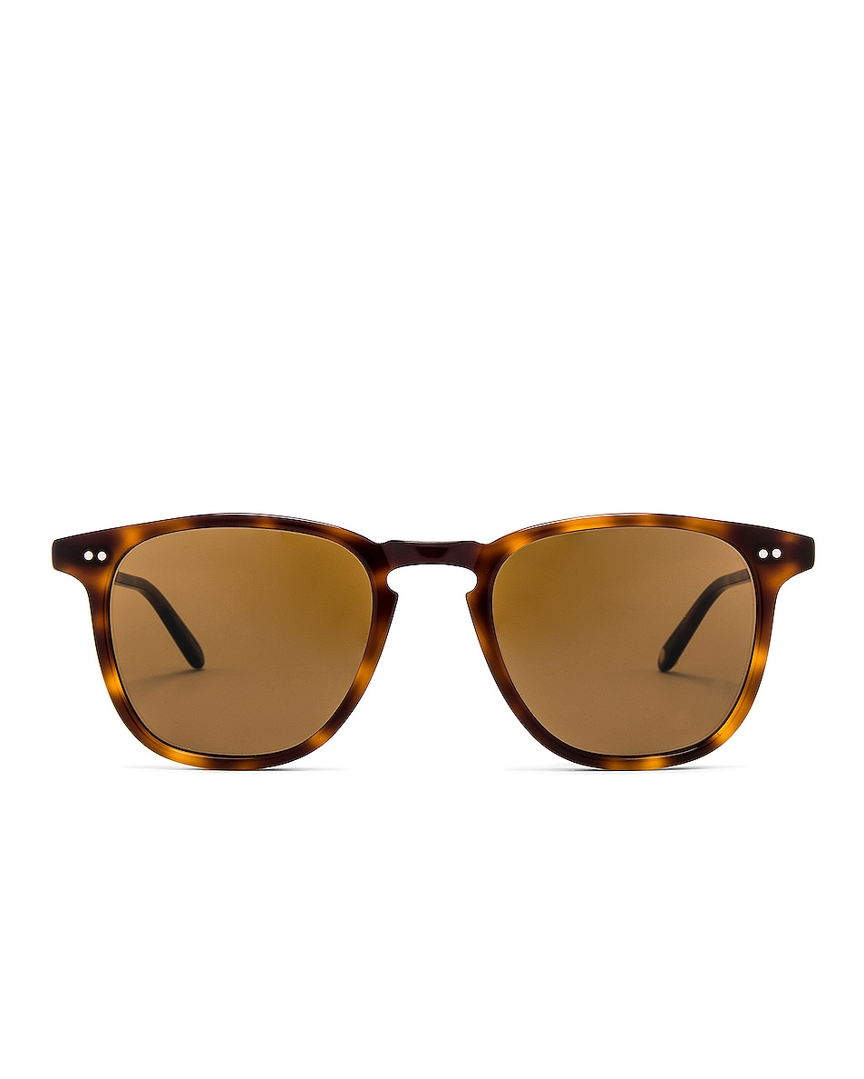 Image 1 of Garrett Leight Brooks 47 in Classic Brown Tortoise & Semi-Flat Pure Coffee
