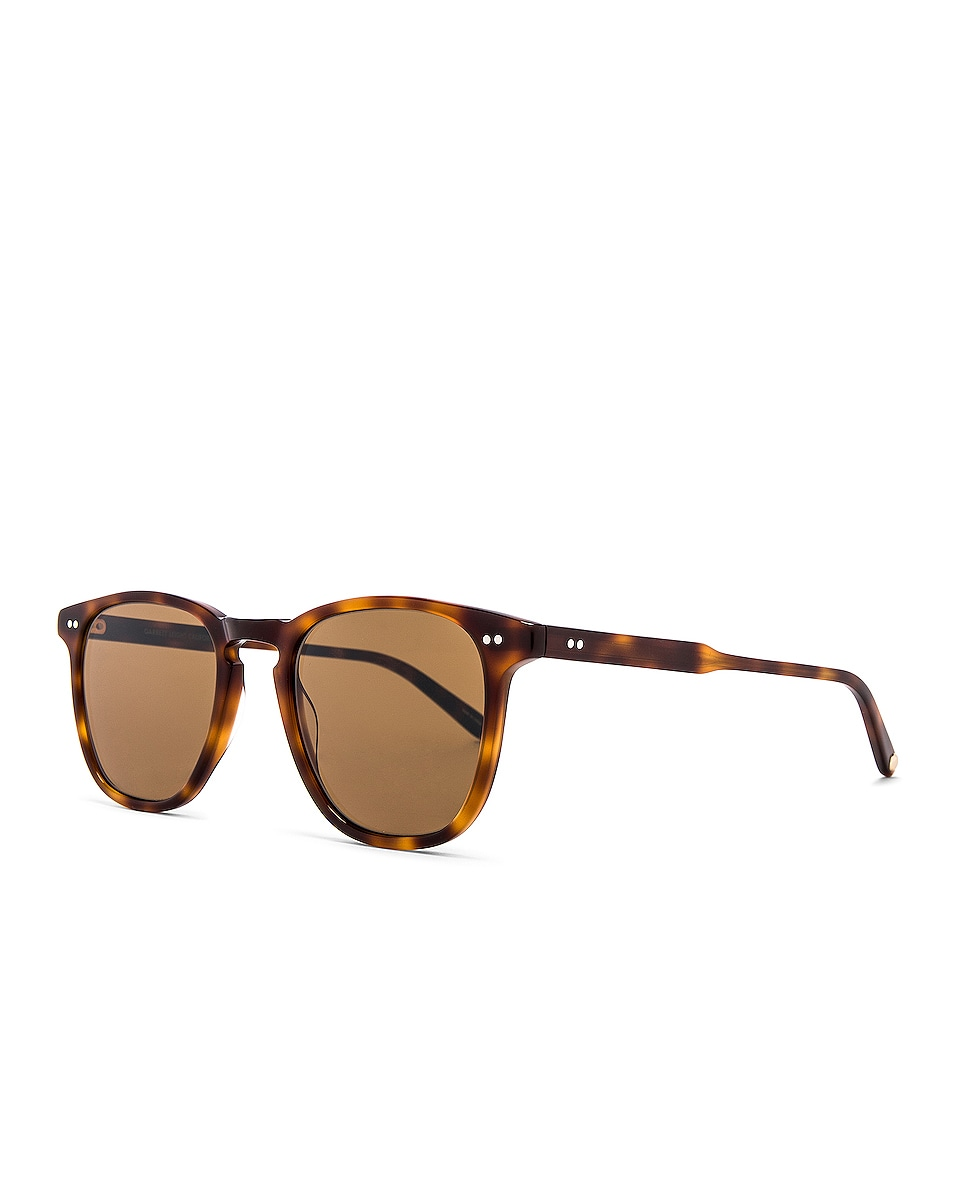 Image 2 of Garrett Leight Brooks 47 in Classic Brown Tortoise & Semi-Flat Pure Coffee