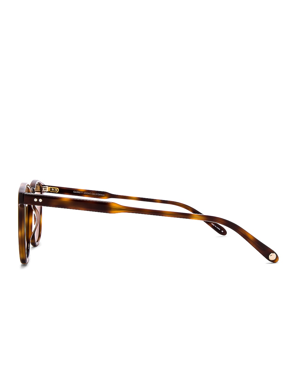 Image 3 of Garrett Leight Brooks 47 in Classic Brown Tortoise & Semi-Flat Pure Coffee