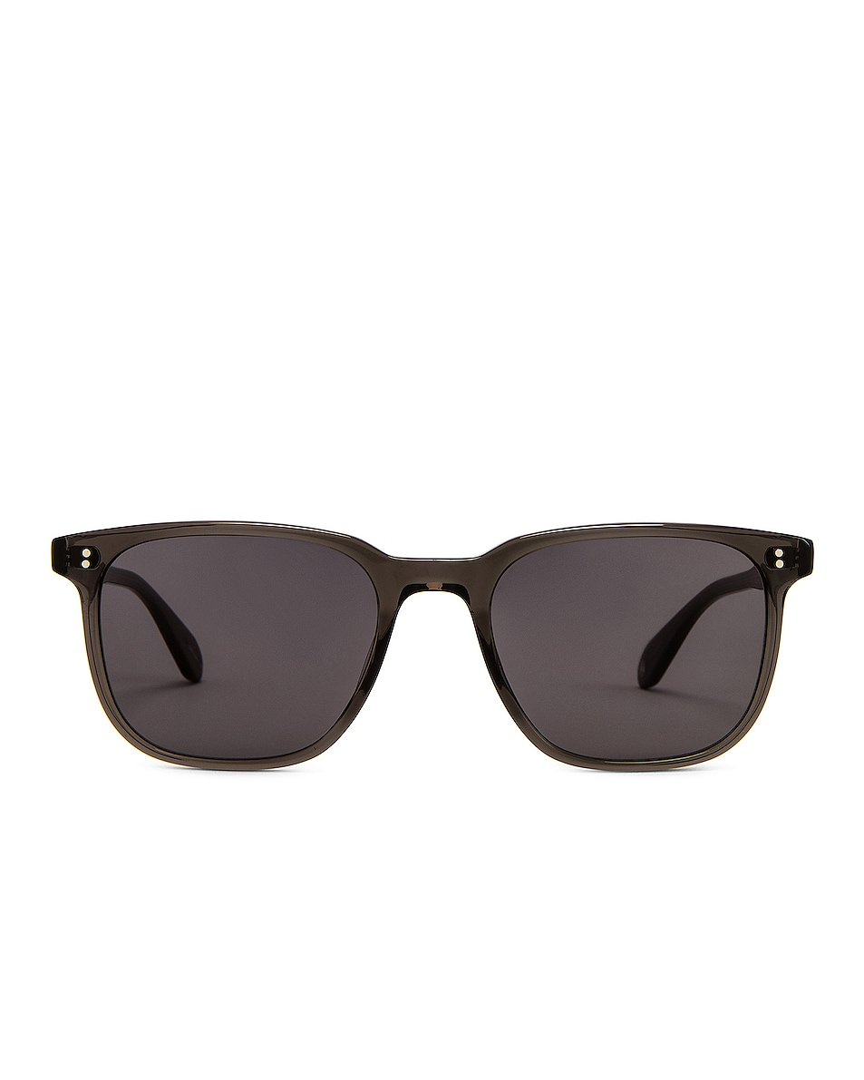 Image 1 of Garrett Leight Emperor 52 in Grey Crystal & Black