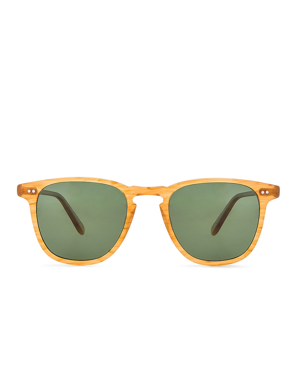 Image 1 of Garrett Leight Polarized Brooks in Butterscotch & Green Polar