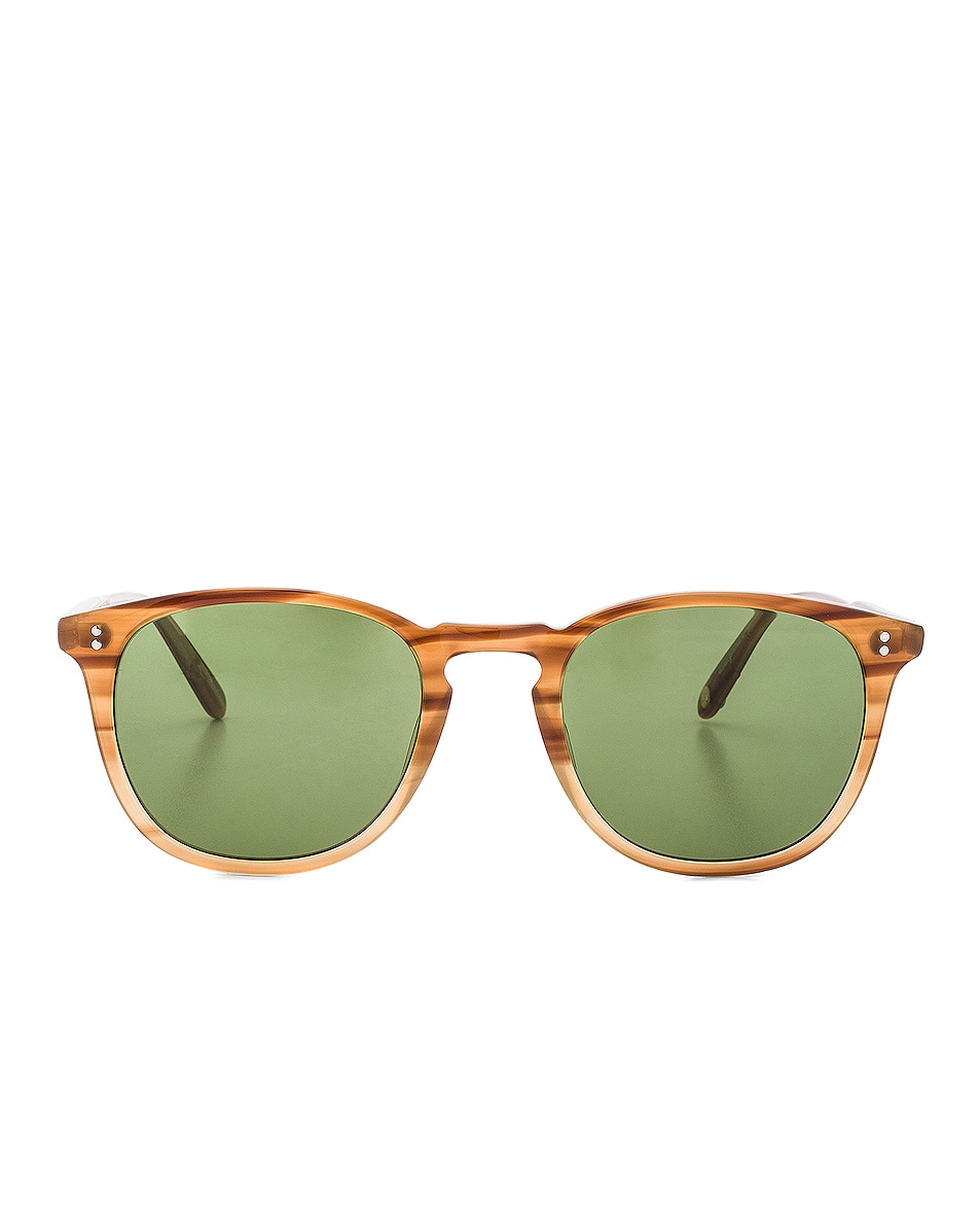 Image 1 of Garrett Leight Kinney 49 in Tortoise Fade & Pure Green