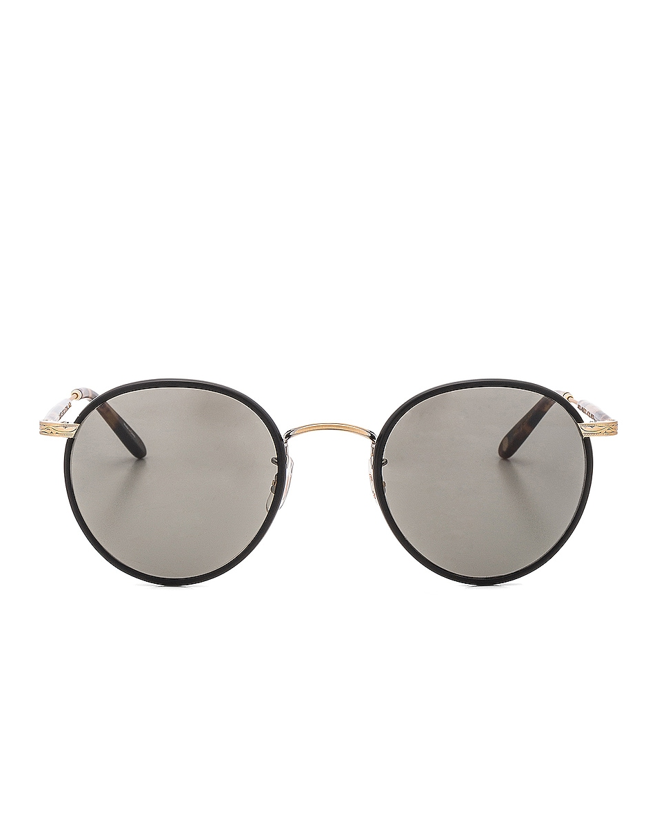 Image 1 of Garrett Leight Wilson 49 in Black Matt Spotted Tortoise & Pure Grey