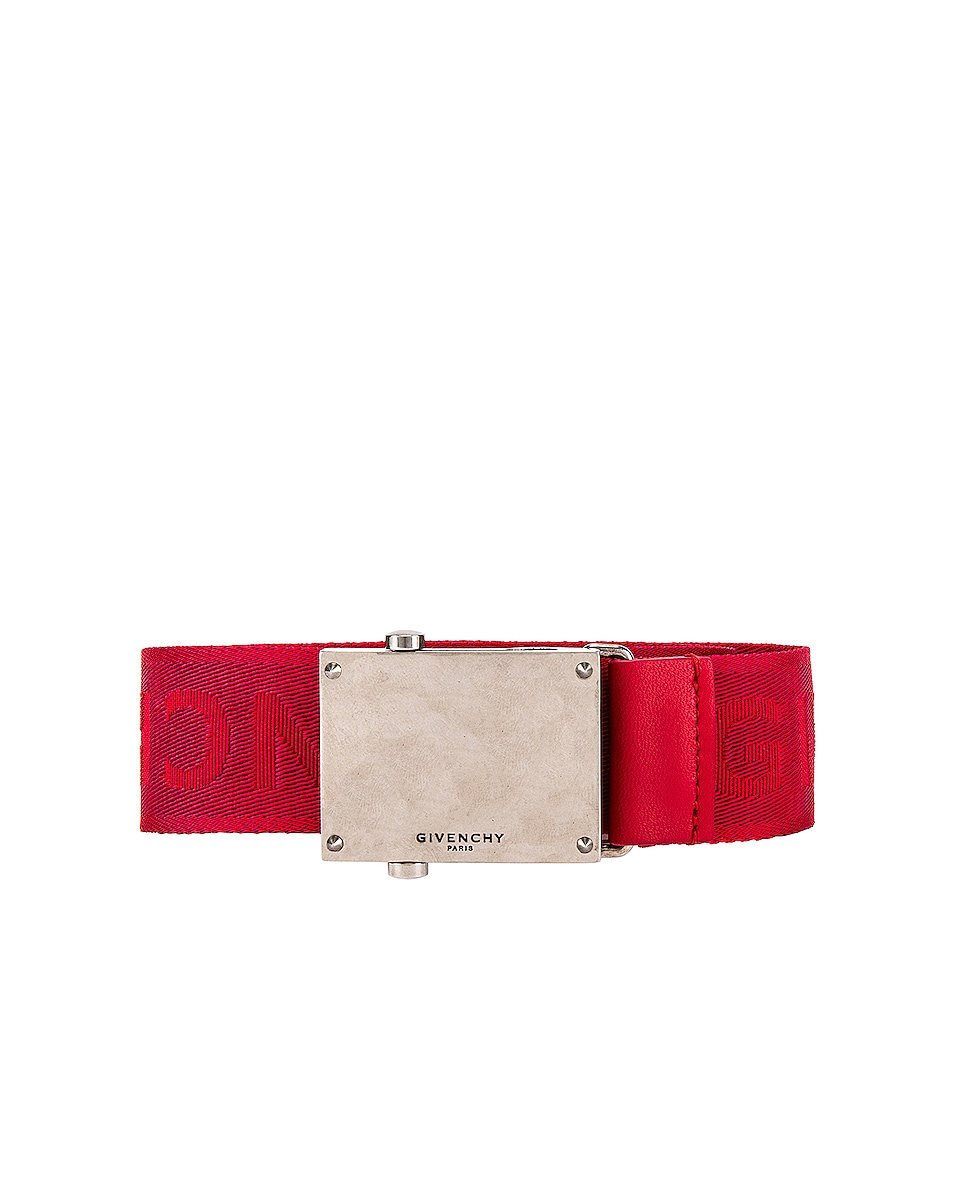 Image 1 of Givenchy Plate Buckle Belt in Red