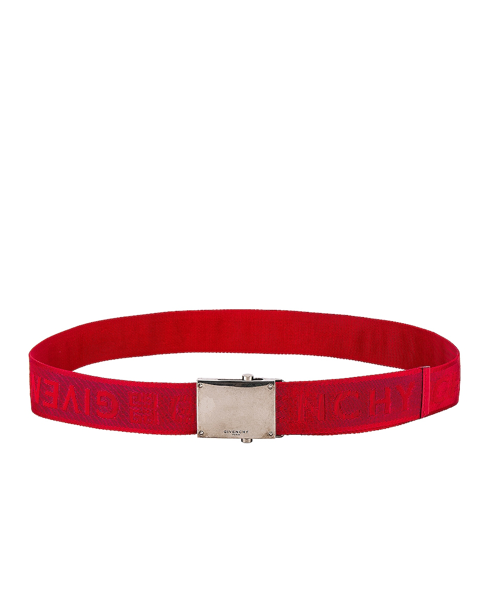 Image 2 of Givenchy Plate Buckle Belt in Red