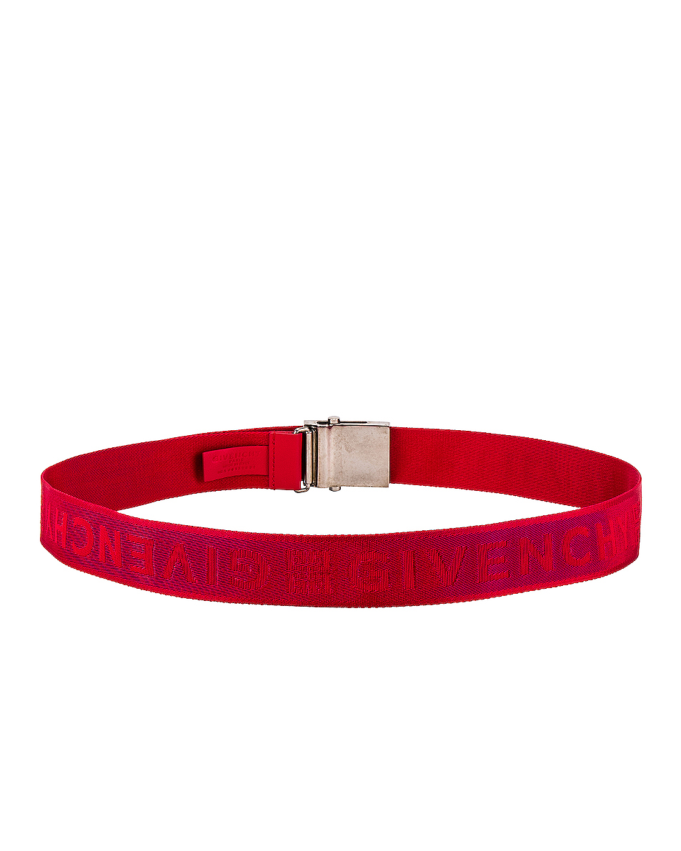 Image 3 of Givenchy Plate Buckle Belt in Red