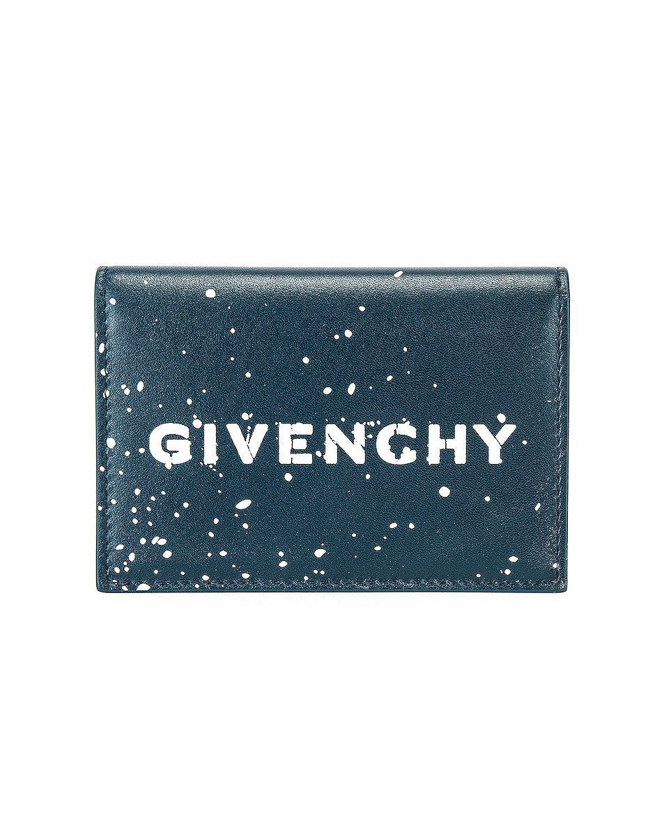 Image 1 of Givenchy Graffiti Logo Wallet in Oil Blue