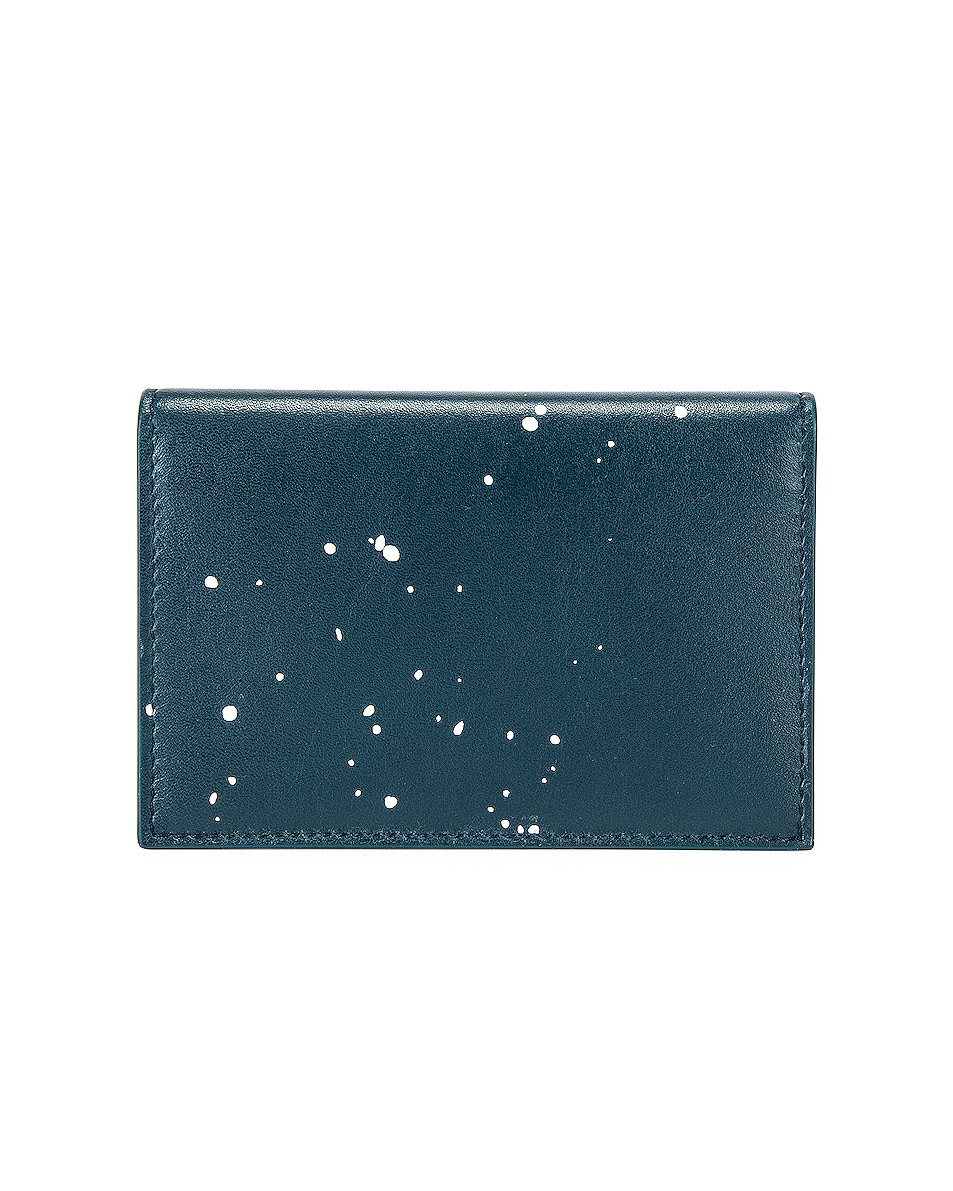 Image 2 of Givenchy Graffiti Logo Wallet in Oil Blue