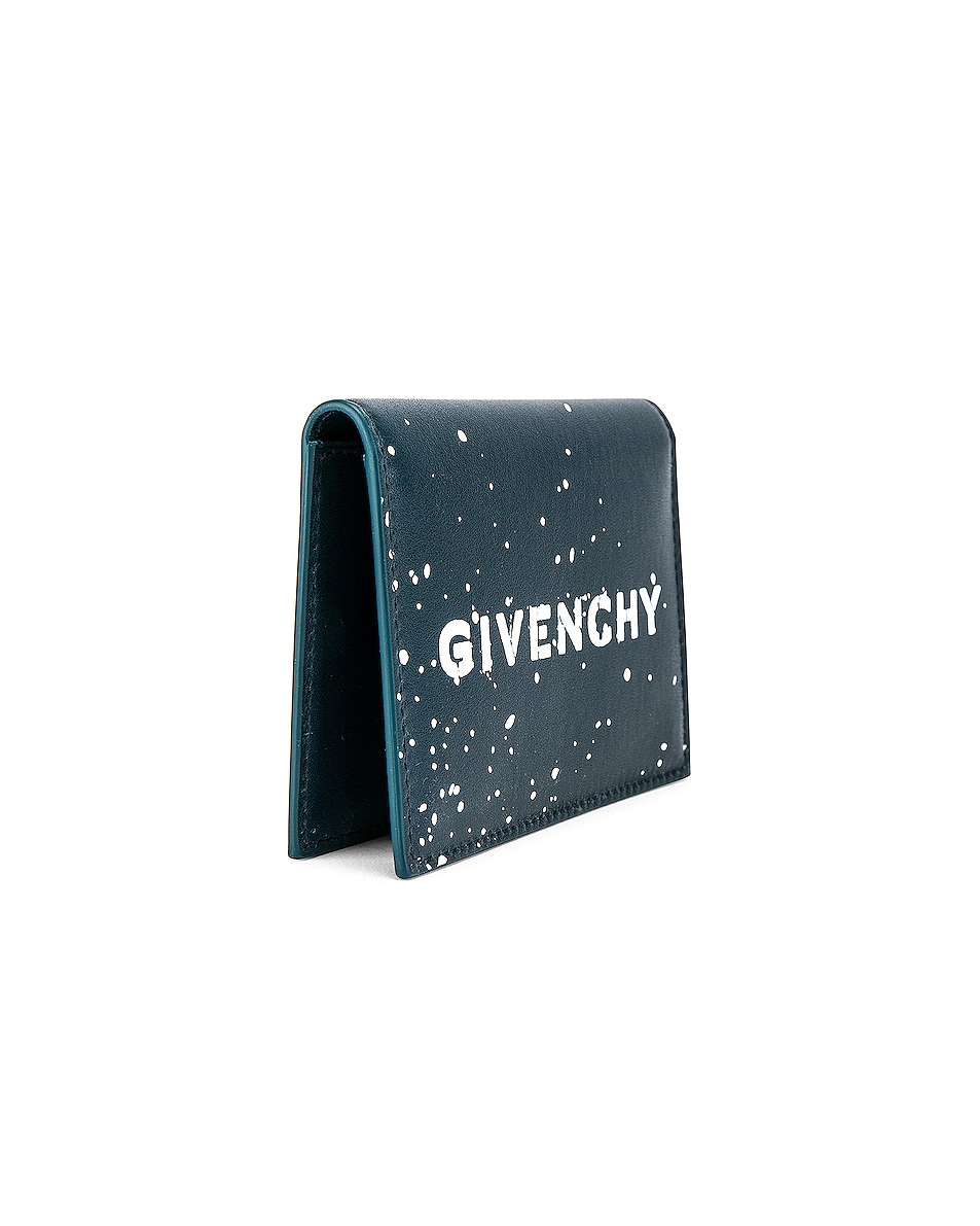Image 3 of Givenchy Graffiti Logo Wallet in Oil Blue